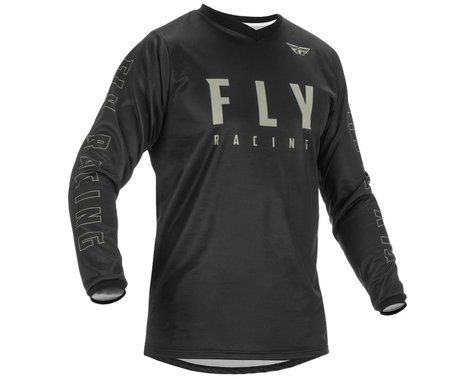 Fly Racing Youth F-16 Jersey (Black/Grey) (Youth S)