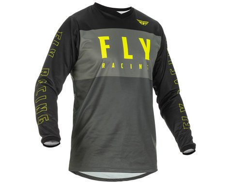 Fly Racing Youth F-16 Jersey (Grey/Black/Hi-Vis) (Youth S)