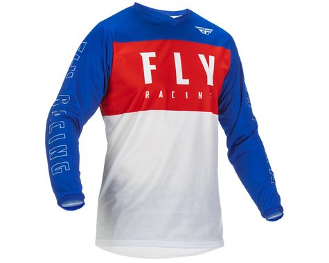 Fly Racing Youth F-16 Jersey (Red/White/Blue) (Youth S)
