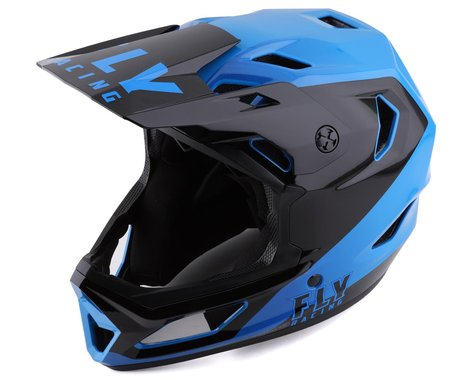 Fly Racing Rayce Youth Helmet (Black/Blue) (Youth S)