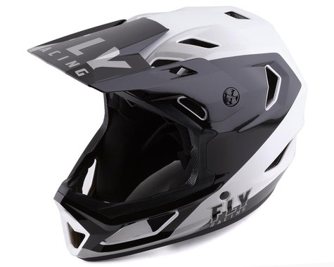 Fly Racing Rayce Youth Helmet (Black/White) (Youth S)