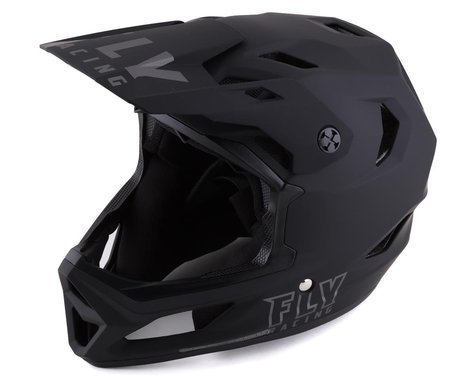 Fly Racing Rayce Youth Helmet (Matte Black) (Youth M)