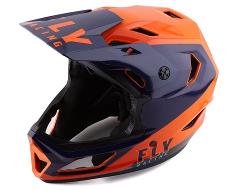 Fly Racing Rayce Youth Helmet (Navy/Orange/Red) (Youth S)