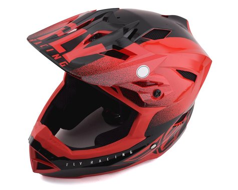 Fly Racing Youth Default Full Face Mountain Bike Helmet (Red/Black)