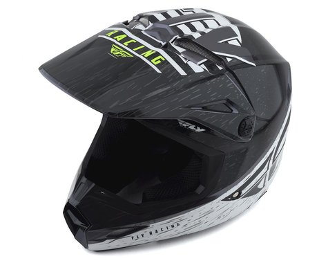 Fly Racing Kinetic K120 Helmet (Black/White/Hi-Vis)