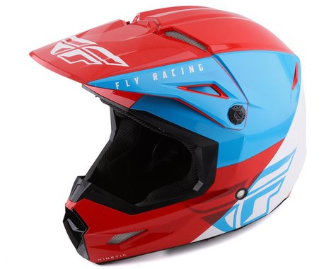 Fly Racing Kinetic Straight Edge Helmet (Red/White/Blue) (XS)