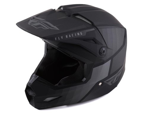 Fly Racing Kinetic Drift Helmet (Matte Black/Charcoal) (Youth M)