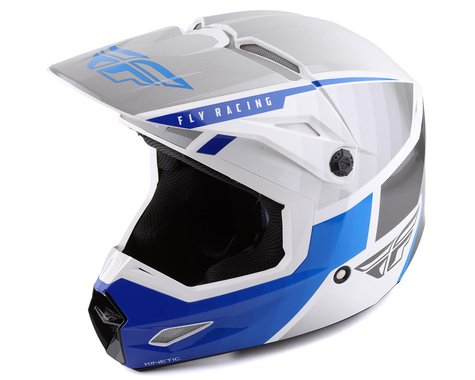 Fly Racing Kinetic Drift Helmet (Blue/Charcoal/White) (L)