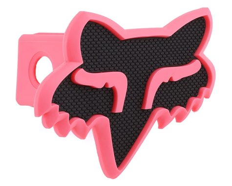 """Fox Racing Trailer Hitch Cover (Black/Pink) (2"""")"""