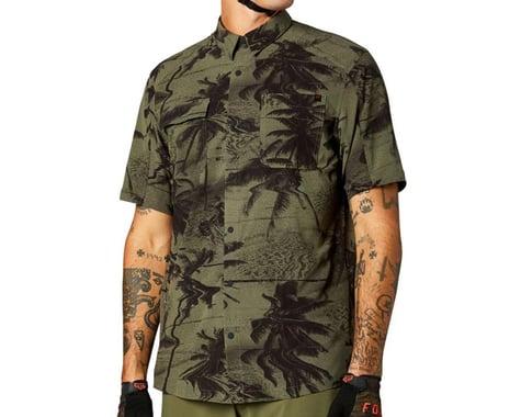 Fox Racing Flexair Woven Short Sleeve Shirt (Olive) (S)