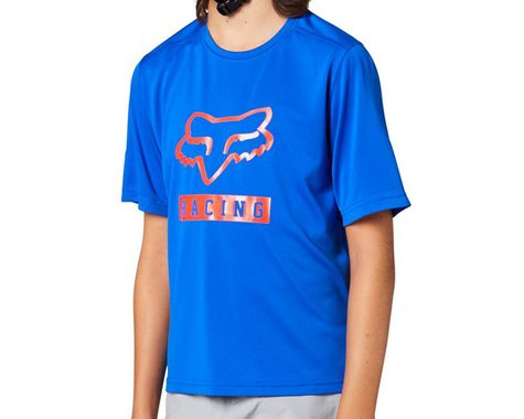 Fox Racing Ranger Short Sleeve Youth Jersey (Blue) (Youth S)