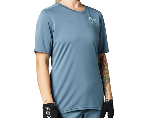 Fox Racing Women's Ranger Short Sleeve Jersey (Matte Blue) (XL)