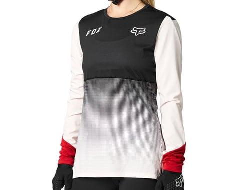 Fox Racing Women's Flexair Long Sleeve Jersey (Black/Pink) (XL)