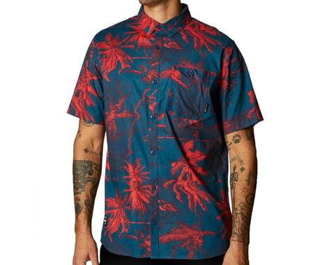 Fox Racing Bad Trip Woven Short Sleeve Shirt (Dark Indigo) (S)