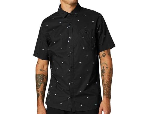 Fox Racing Decrypted Woven Short Sleeve Shirt (Black/White) (S)