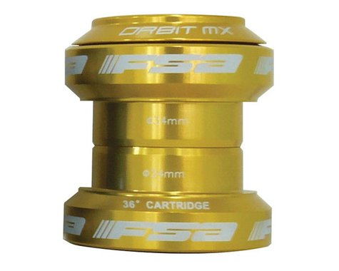 "FSA Orbit MX Threadless Headset (Gold) (1-1/8"") (EC34/28.6) (EC34/30)"