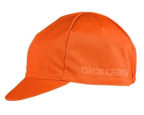 Giordana Solid Cotton Cycling Cap (Orange) (One Size Fits Most)