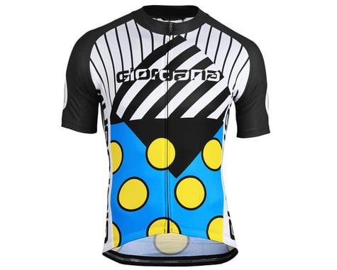 Giordana Motivo 2 Jersey (Blue/Black/White/Yellow) (2XL)
