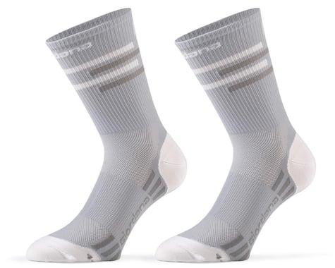 Giordana FR-C Tall Lines Socks (Grey/White) (S)