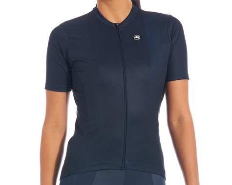 Giordana Women's Fusion Short Sleeve Jersey (Midnight Blue) (S)