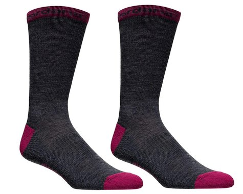 "Giordana Merino Wool Socks (Grey/Pink) (5"" Cuff) (M)"