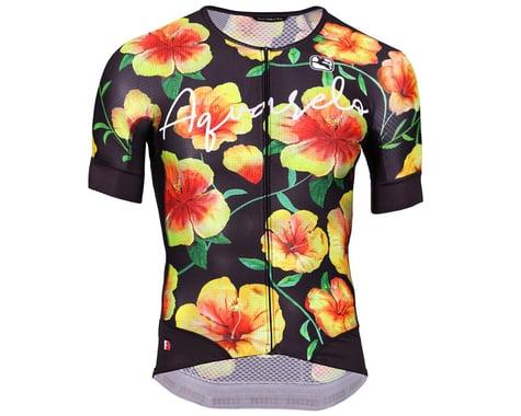 Giordana Men's FR-C Low Collar Short Sleeve Jeresy (Hibiscus Aquarelo) (S)