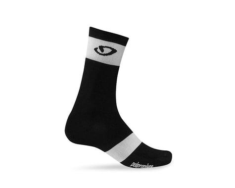 Giro Comp Racer High Rise Socks (Black/Bright Pink)