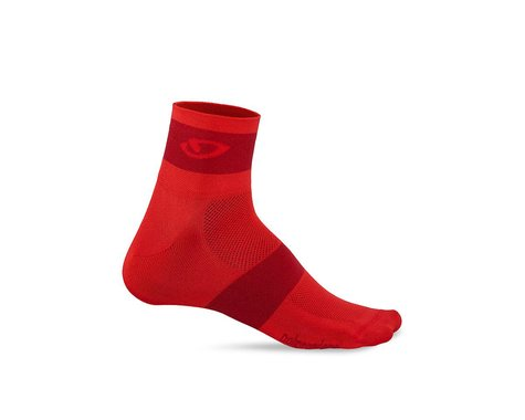 Giro Comp Racer Socks (Bright Red/Dark Red) (M)