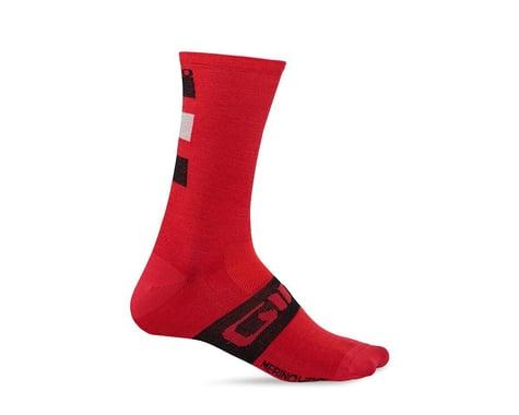 Giro Merino Seasonal Wool Socks (Dark Red/Black/Grey) (L)