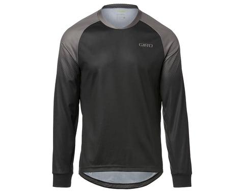 Giro Men's Roust Long Sleeve Jersey (Black/Charcoal Transition) (L)
