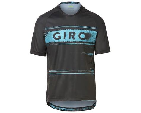 Giro Men's Roust Short Sleeve Jersey (Black/Iceberg Hypnotic) (M)