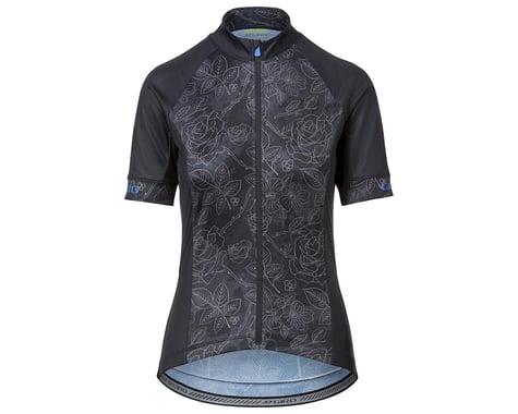 Giro Women's Chrono Sport Short Sleeve Jersey (Black Floral) (XS)