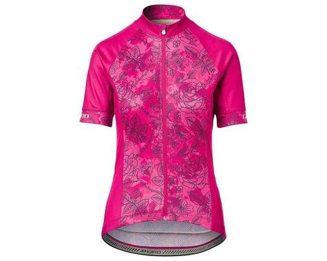 Giro Women's Chrono Sport Short Sleeve Jersey (Pink Floral) (XS)