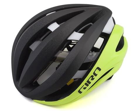 Giro Aether Spherical Road Helmet (Matte Black Fade/Highlight Yellow) (S)
