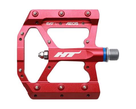 """HT AE05 Evo+ Platform Pedals (Red) (Aluminum) (9/16"""")"""