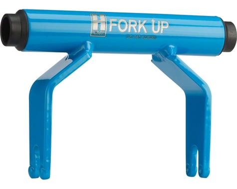 Hurricane Components Fork Up Thru Axle Bike Rack Adapter (Blue) (15 x 150mm)