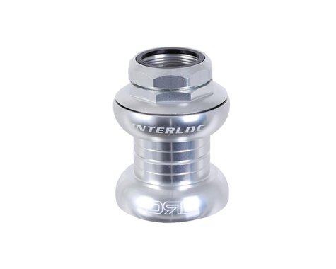 "Interloc Racing Design Double Roller Drive Headset (Silver) (1"" Threaded) (EC30/25.4-24tpi) (EC30/26)"