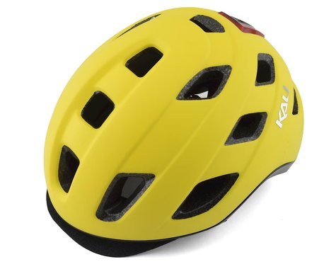 Kali Traffic Helmet w/ Integrated Light (Solid Matte Yellow)
