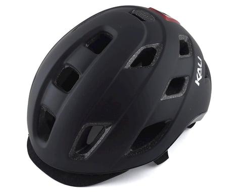 Kali Traffic Helmet w/ Integrated Light (Solid Matte Black)