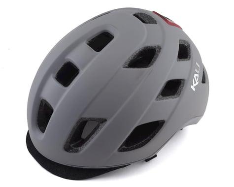 Kali Traffic Helmet w/ Integrated Light (Solid Matte Grey)