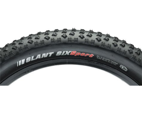 "Kenda Slant 6 Mountain Tire (Black) (2.6"") (20"" / 406 ISO)"