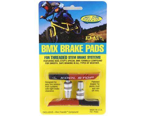 Kool Stop BMX Brake Pads (Black/Salmon) (Threaded) (1 Pair)