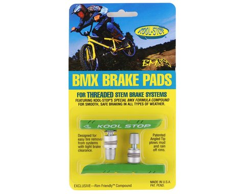 Kool Stop BMX Brake Pads (Lime Green) (Threaded) (1 Pair)