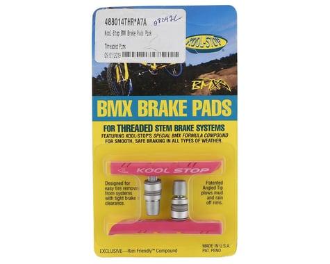 Kool Stop BMX Brake Pads (Pink) (Threaded) (1 Pair)