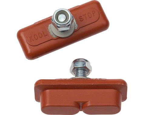 Kool Stop Continental Caliper Brake Pads (Red) (1 Pair) (Salmon Compound)