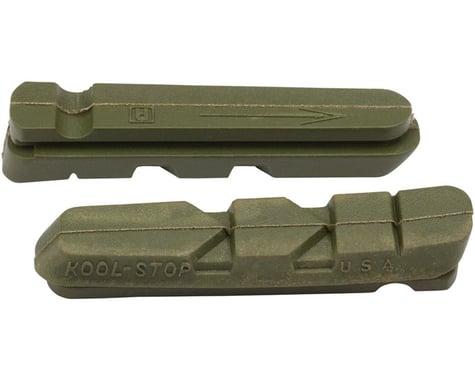 Kool Stop Dura-Type Brake Pad Inserts (Black/Red) (1 Pair) (Ceramic Compound)