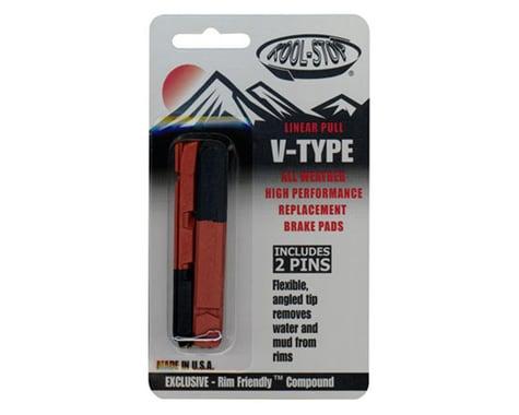Kool Stop Linear Pull Brake Pad Inserts (Black) (1 Pair) (Dual Compound)