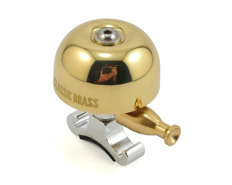 Lezyne Classic Brass Bell (Brass/Silver) (M)