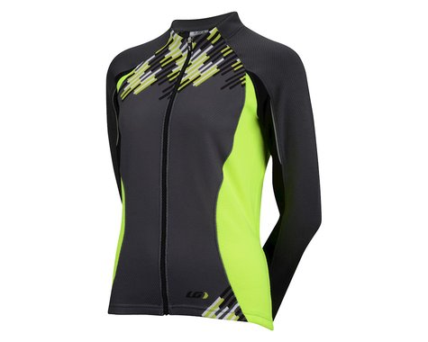 Louis Garneau Women's Tirreno Thermal Long Sleeve Jersey -- Performance Exclusive (Matte Black/High Vis)