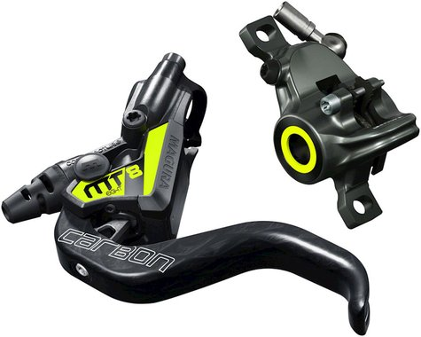 Magura MT8 SL Carbon Hydraulic Disc Brake (Carbon/Yellow) (Post Mount) (Left or Right)